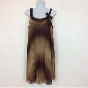 Dressbarn Collection Pleated Brown Ombre Dress